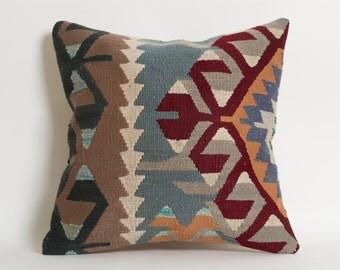 Decorative Kilim Pillows - Bohemian Home Decor Handwoven Pillow Kilim Cushion Turkish Pillows Throw Pillows For Sofa Ethnic Home Decor