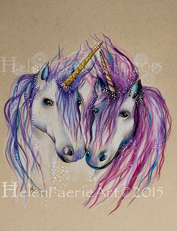 Fine Art Print 'Unicorn Love'