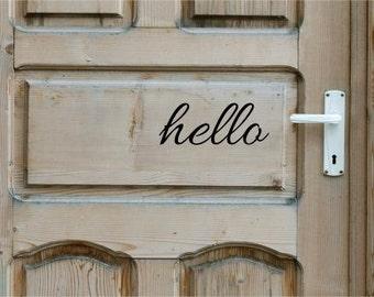 Vinyl Door Decal Hello