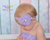 Flower Headband, Flower Clip, Vintage Baby Headband, Lavender, Pearl, Vintage Inspired Clip, Photo Prop, Newborn Headband, Girls Headband