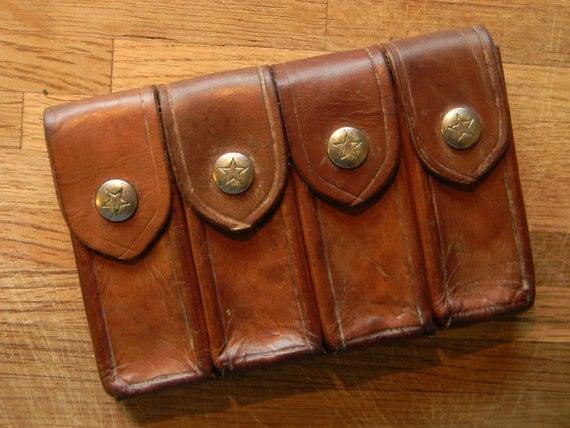 Belt Vintage Vintage Leather Belt Pouch