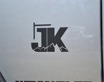 Jeep Wrangler JK with Mountains V2 Decal