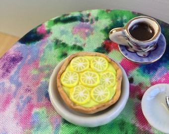 Dollhouse Miniature Food - Lemon Curd Tart