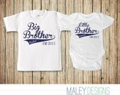 Big Brother Little Brother Set, Matching Brother Outfits, Coordinating Sibing Shirts, Big Brother Little Brother Shirt