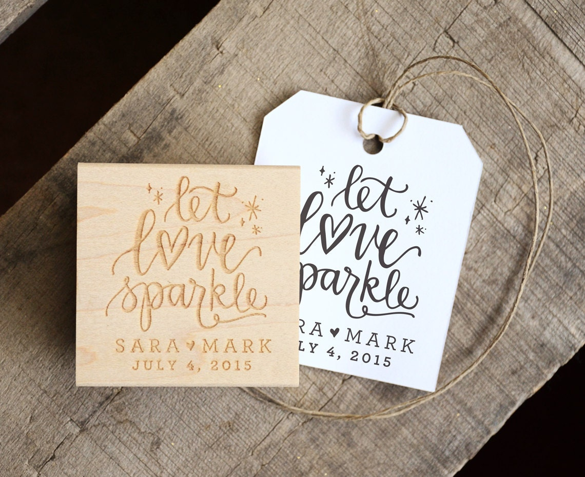 Let Love Sparkle Stamp For Wedding Sparkler Tags