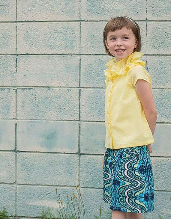 Yellow Tops For Girls Girl Dressy Blouse Yellow