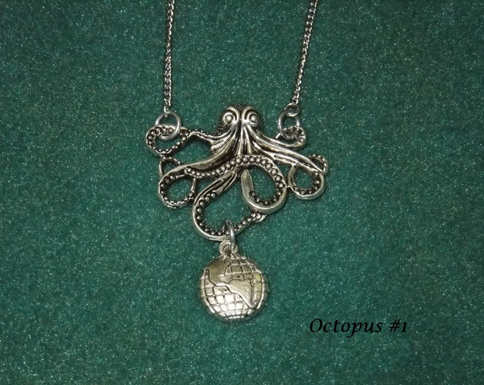 Featured listing image: Octopus & Globe Necklace
