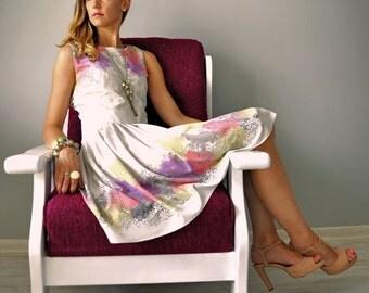 Dress SUZIE, Pastel Flowers Dress