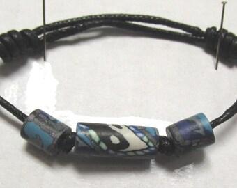 OOAK Hand Made Retro Psychedelic Bead Adjustable Bracelet 03