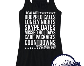 I deal with DEPLOYMENT ladies/womens racer back tank top