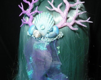 Calypsos Treasure - wonderfull Hairdress with pearlescent Corals and Seashells