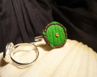 Hobbit Hole - handsculpted adjustable Ring - Tolkien - LotR