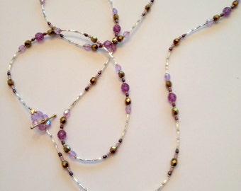 """48"""" Long Strand Czech Glass Necklace"""