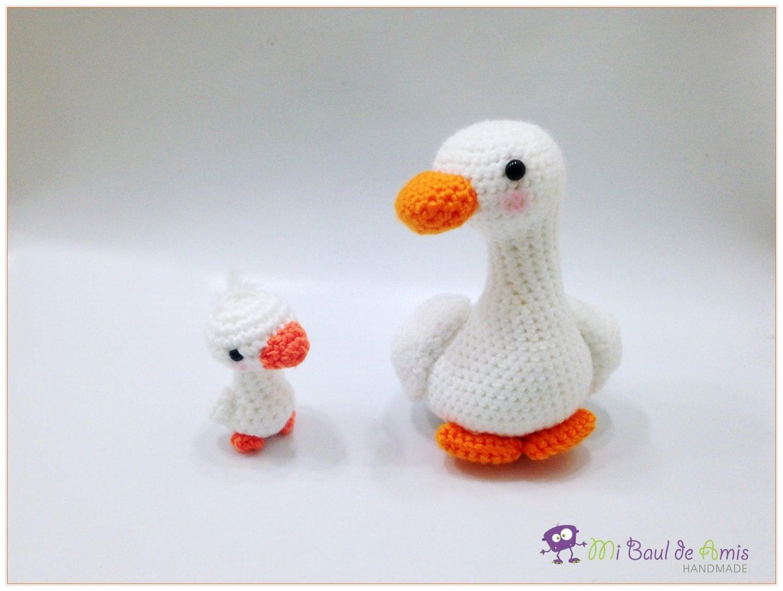 Crochet Goose Amigurumi Farm Animal Toy Momma and baby