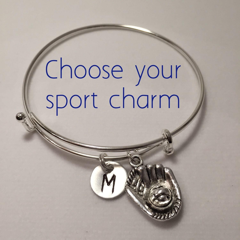 sports charm bracelet senior gift add a charm by