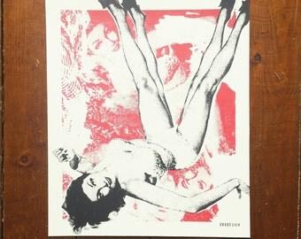Screen Printed 'Trouble Waiting' Art Silkscreen Print by Or8 Design