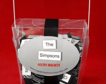 The Simpsons Poetry Magnet Set - Refrigerator Poetry Word Magnets - Free Gift Wrap