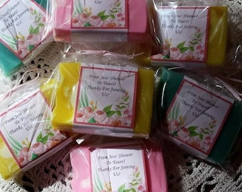 Soap Favors for Baby/Bridal/Wedding Showers, Special Events (Wrapped & Customized) Fifteen for 25.00