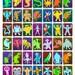 Classic Kaiju Trading Card 11 x 17 Print