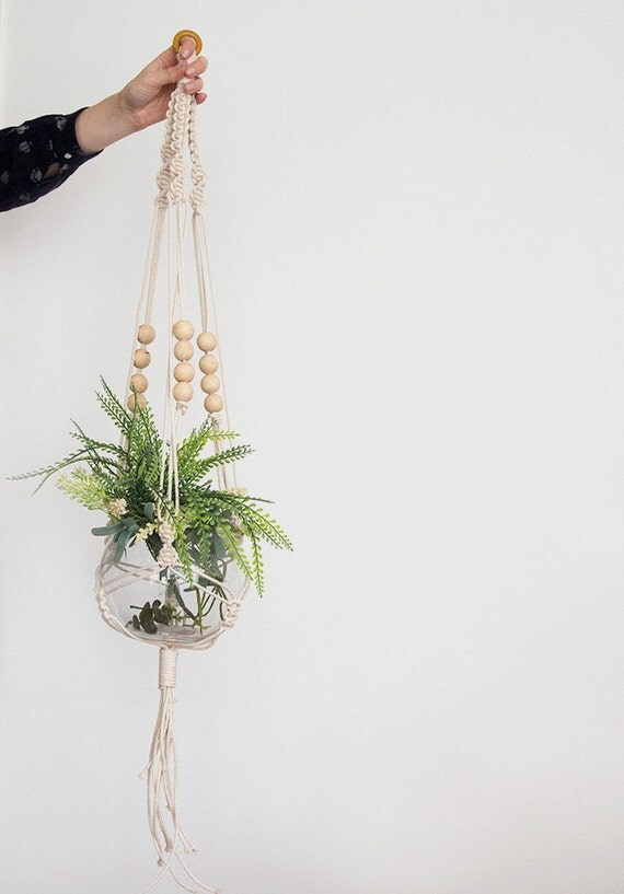 Natural Macrame Plant Hanger Plant Hanger Pot Plant Holder
