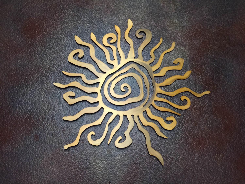 Sun Metal Wall Art Tribal Sun Sun Art Metal By Inspiremetals
