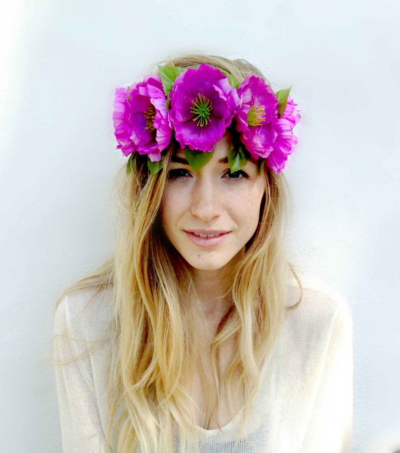 Flower Crown Flower Headband Coachella Music by TheBloomingBeauty