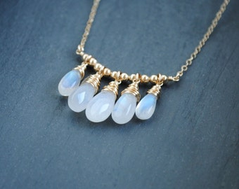 Moonstone Necklace, Moonstone Jewelry, June Birthstone, June Necklace