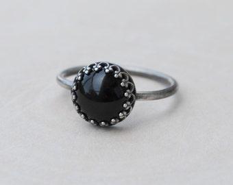 Black Onyx Ring, Onyx Ring, Black Onyx Jewelry