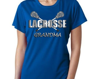NEW! Lacrosse Grandma T-shirt on royal blue
