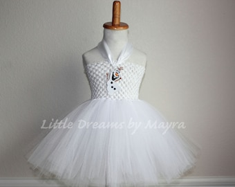 Olaf inspired tutu dress and matching bow - Olaf inspired costume - Olaf inspired outfit size nb to 10years