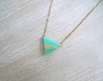 Triangle necklace, Triangle pendant necklace, Geometric necklace