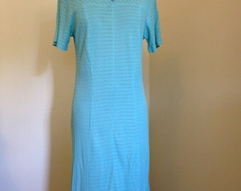 Blue 1960s Day Dress