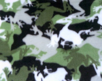 Camouflage Frogs Fleece Blanket