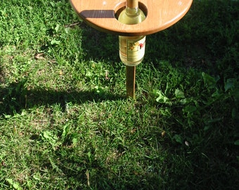 Folding Outdoor Wine Table- Stained