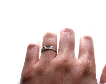Stacking Rings,Sterling Silve, 3 Stacking Rings, 3 set of hammer stacking rings,Hammered Textured Rings,3 Stackable Rings