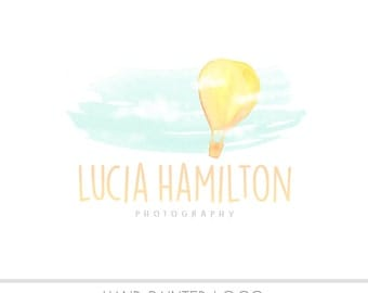 CLEARANCE - Watercolor  Logo -  Business Logo - Watercolor, Balloon, Drawn,  Sky, Clouds, Children Photography, Newborn, Photography