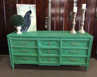SOLD!!! Green Painted Dresser