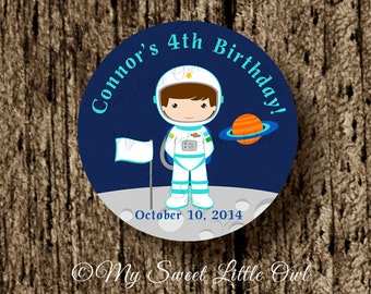 Space Cupcake Topper - Astronaut Birthday - space printable - space sticker - astronaut tag - space party - space label - astronaut label