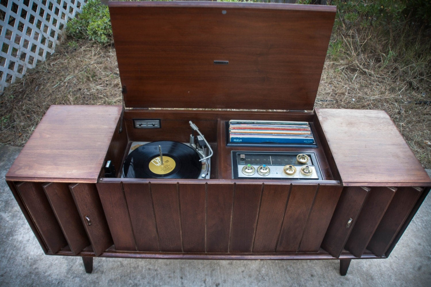 old stereo cabinet