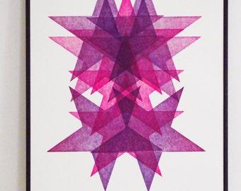 Letterpress poster - Star Portrait No2