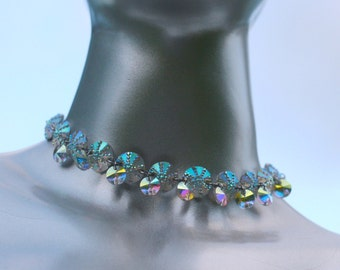 magical iridescent jewel choker necklace