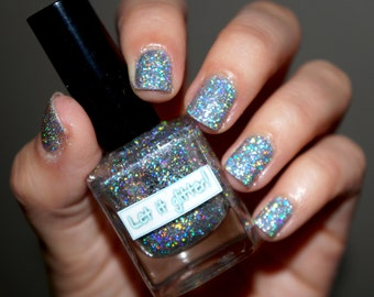 Holographic glitter nail polish - Be Brilliant
