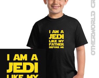 I am a Jedi Like My Father Before Me Boys T-Shirt - Star Wars