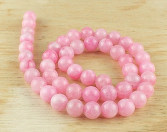 8 mm pink agate beads • Light pink agate beads • Agate gemstone• Baby pink agate• Gemstone beads • Round agate beads • Natural agate beads