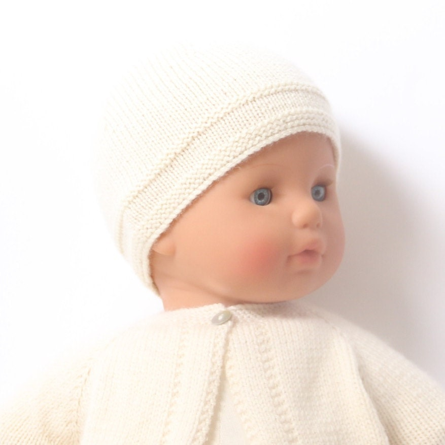 Knitting Pattern Baby Hat 12 Months : Baby Hat / Knitting Pattern Instructions in English / PDF ...