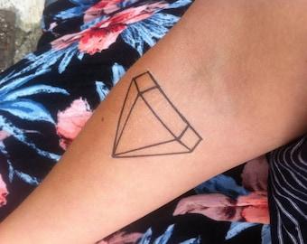 Sale!!! Diamond Temporary Tattoo Hand Drawn Geometric