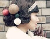 knit hair accessories - long hair style 5 set - hair pin set - yarn ball - hair stick - long hair