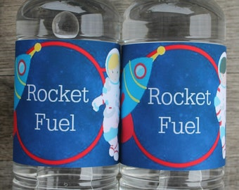 Space Water / Soda Bottle Labels - Smart Party Planning