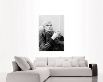 Andy Warhol portrait top quality heavy paper poster print or canvas (from US Letter & A4 up to A0 size)
