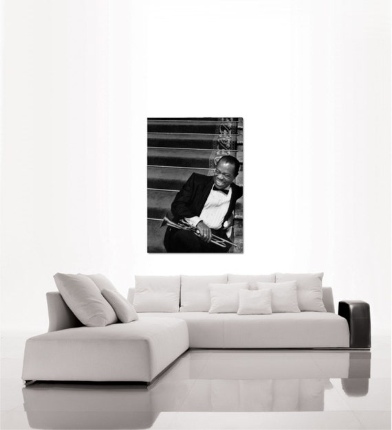 Louis Armstrong portrait top quality heavy paper poster (from US ...